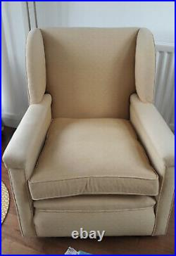 1930s sofa, wing-back chair and armchair. Beautiful condition and very comfy