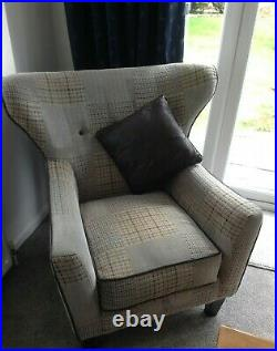 2 x Sofas and 1 Winged Chair REDUCED FOR QUICK SALE