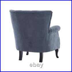 American Style Home Reception Sofa Wing Back Accent Chairs Padded Large Seat New