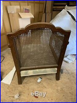 Antique Cane 3 Seater Sofa Chair Wing Chair Living Room. Delivery Available