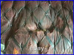 Antique Chesterfield Flat High wing Back button leather Sofa for RE-UPHOLSTERY