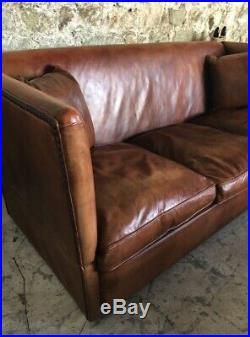 Antique Leather Chairs of Bath Knole wing sofa Howard George Smith