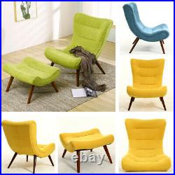 Banana Seat Wing Back Chair Footstool Living Lounge Bedroom Chaise Sofa Armchair