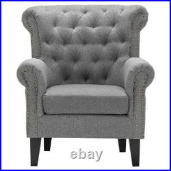 Chesterfield Armchair Occasional Wing Chair Tufted Tub Sofa Living Room Fireside