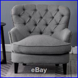Chesterfield Armchair Scallop Button Back Winged Chair Queen Anne Fireside Sofa