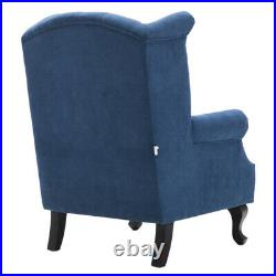 Chesterfield High Back Chair Button Tufted Winged Armchair Fireside Single Sofas