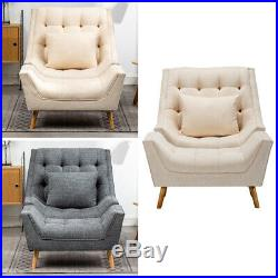 Chesterfield Oyster Chair Button Tufted Armchair Wing Back Reclining Footstool