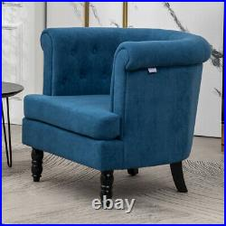 Chesterfield Velvet Chair Wing Back Accent Armchair Buttoned Back Lonuge Sofa