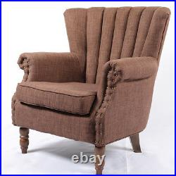Chesterfield Vintage Fireside Armchair Accent Wing Back Chair Lounge Sofa Coffee