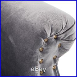 Chesterfield Wing Back Armchair Button Velvet Tub Chair Sofa Seat Home Furniture