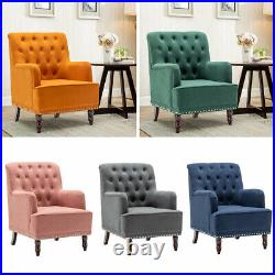 Chesterfield Wing Back Button Chair Tub Armchair Fireside Sofa Recliner Lounge