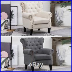 Chesterfield Wing Back Chair Tub Armchair Bedroom Lounge Chair Fireside Sofa NEW