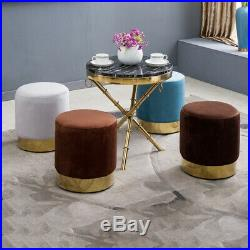 Cocktail Shell Chair Wing Back Armchair Sofa Side Footstool Bedroom Vanity Stool