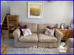 Country Living X2 Sofas One 3 Seater And One 4 Seater, Winged Chair And Stool