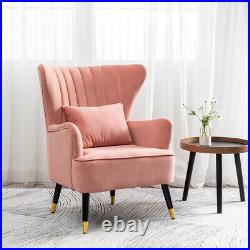 Curved Wing Back Accent Chair Oyster Armchair Scallop Fluted Shell Back Sofa Tub