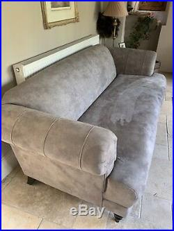 DFS New Aspen Grey Maxi Sofa, 2 Winged Chairs & Banquette Footstool