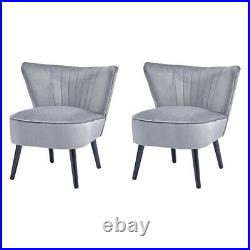 Dining Chair Sofa Chair Living Room Bedroom Thicken The Mat Wing Back Grey NEW