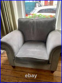 Duresta Kensington sofa and chair plus Fitzroy wing chair in grey