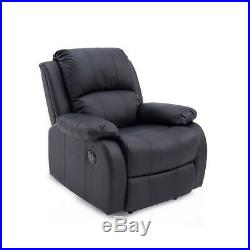 ELECTRIC LEATHER AUTO RECLINER MASSAGE SOFA GAMING NURSING WING CHAIR White Blac