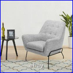 Fabric Armchair Occasional Accent Chair Lounge Tub Single Sofa Button Wing Back