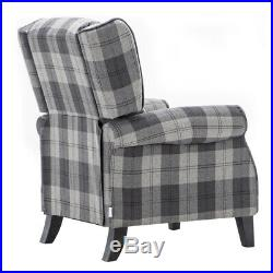 Fabric Recliner Armchair High Back Winged Sofa Reclining Chair Fireside Bedroom
