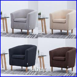 Fabric Velvet Armchair Scallop Wing Back Occasional Lounge Tub Accent Chair Sofa