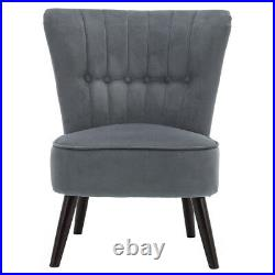 Linen Retro Occasional Hallway Bedroom Living Room Accent Chair Fabric Wing Back