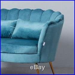 Lotus Flower 2 Seater Sofa Couch Settee Scallop Shell Winged Tub Chair Armchair