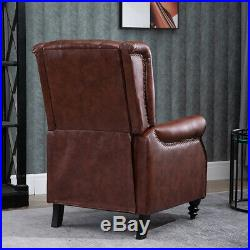 Luxury Faux Leather Recliner Chairs Wing Back Occasional Armchair Sofa Retro NEW
