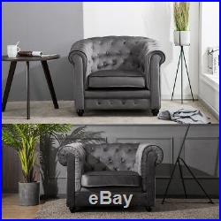 Luxury Spacious Upholstered Seat Armchair Occasional Accent Wing Chair Room Sofa