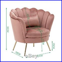 Modern Accent Tub Chair Cocktail Shell Chair Lotus Seat Wing Back Armchair Sofa