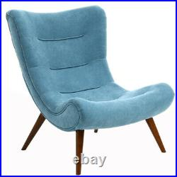 Nordic Banana Sofa Bedroom Napping Lounger Chair Winged Recliner Armchair &Stool