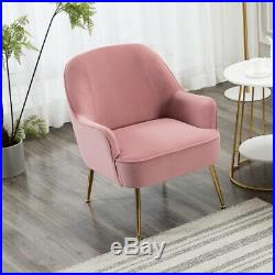 Nordic Velvet Upholstered Accent Tub Chair Wing Back Armchair Single Sofa Seat