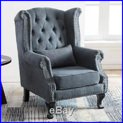 Occasional High Back Chair Chesterfield Queen Anne Fireside Winged Armchair Sofa