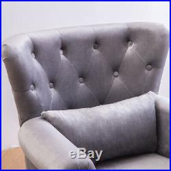 Occasional Tufted Wing Back Fireside Tub Chair Chesterfield Armchair Sofa Seat