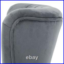 Occasional Velvet Cocktail Scallop Wing Back Armchair Living Bedroom Chair Sofa