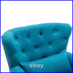 Occasional Velvet Sofa Wing Back Chair Armchair Upholstered Lounge Seat