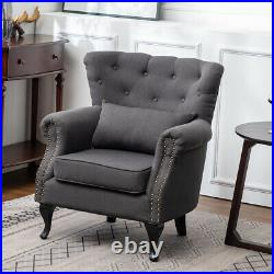 Occasional Wing Accent Armchair Living Dining Bedroom Chair Large Single Sofa UK