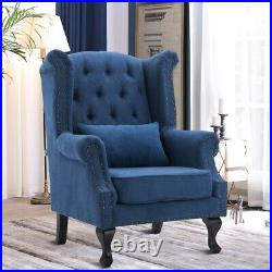 Occasional Wing Back Armchair Fireside Fabric Deep Padded Lounge Chairs Sofa NEW