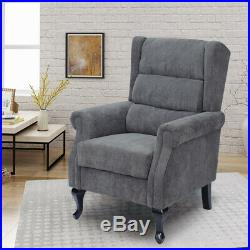 Orthopedic Upholstered High Back Chesterfield Winged Armchair Lounge Sofa Chair