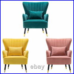 Oyster Chesterfield Wing Back Chair Button Armchair Bedroom Lounge Fireside Sofa