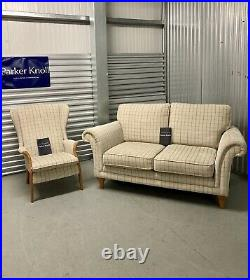 Parker Knoll Burghley 2 Seater Sofa With a Froxfield Wing Chair RRP £2895