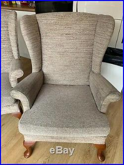 Parker Knoll Wing Back Suite Sofa Chair Three Piece