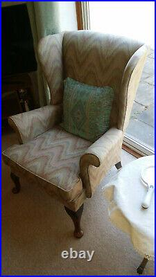 Parker Knoll wing chairs 3 singles 1 sofa 1 footstool