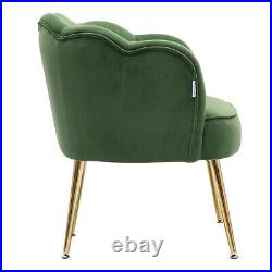 Petaled Back Armchair Scallop Shell Chair Lotus Seat Wing Back Tub Sofa Velvet