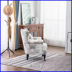 Recliner Armchair Sofa Wing Back Fabric Fireside Lounge Chair Seat Home Cushion