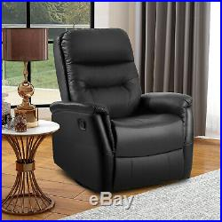 Recliner Sofa Chair Fabric Armchair Vintage Wing Back Check Lounge Brown Swivel