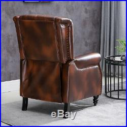 Retro Luxury Faux Leather Recliner Chairs Wing Back Occasional Armchair Sofa NEW
