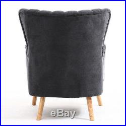 SIGNE OCCASIONAL WING BACK ARMCHAIR WithFOOT STOOL BEDROOM ACCENT CHAIR TUB FABRIC