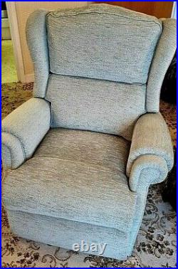 Sherborne 2 seater Wing sofa Green Velour + wing chair + Manual recliner suite